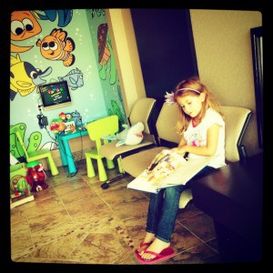 Isabella at the dentist