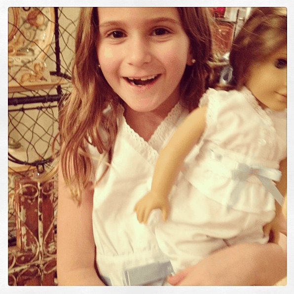 Isabella gets an American Girl Doll