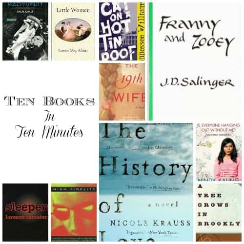 ten  books in ten minutes meme