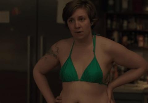 lena-dunham-green-bikini